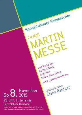 Frank Martin: Messe für Doppelchor